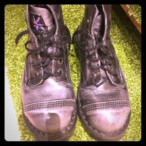 7f9733ff79a FLESH SALE Vintage Dr. Martens style boots. UK 3 Betsey Johnson ...